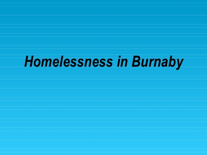 Homelessness in Burnaby