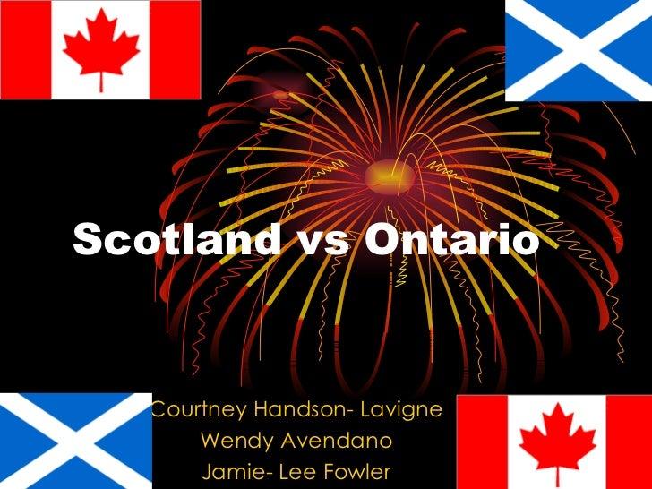 Scotland vs Ontario   Courtney Handson- Lavigne       Wendy Avendano       Jamie- Lee Fowler