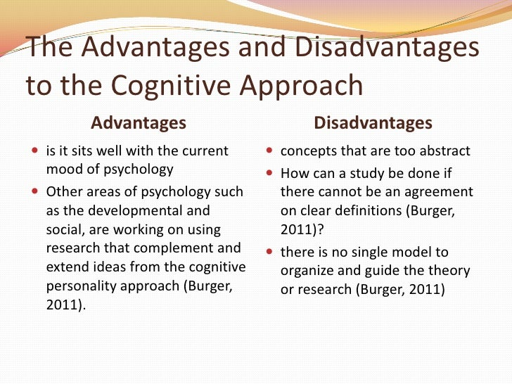 advantages and disadvantages of learning theories