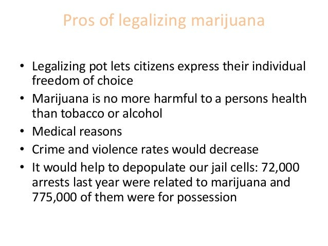 Marijuana legalization research paper