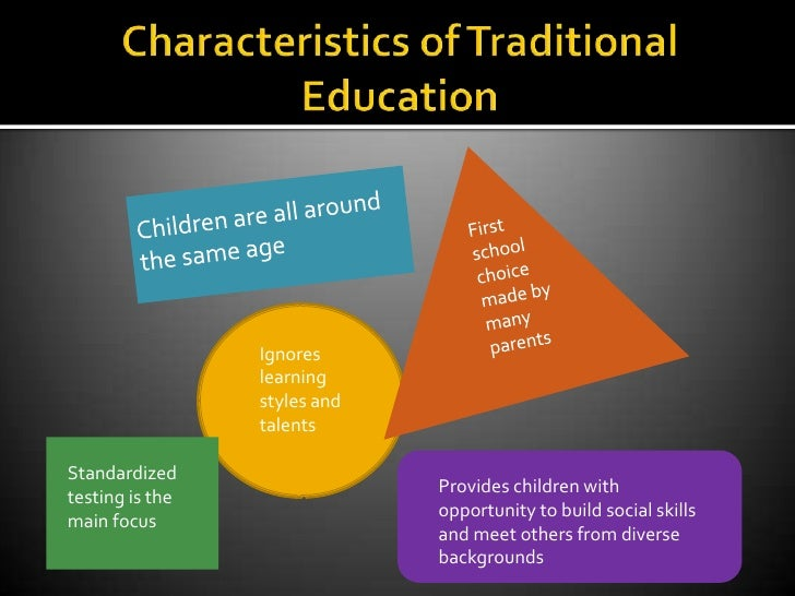 a comparison of e learning and traditional child education Traditional learning versus distance learning: a comparison  there are a variety of factors to consider when choosing between distance learning and traditional education programs, each.