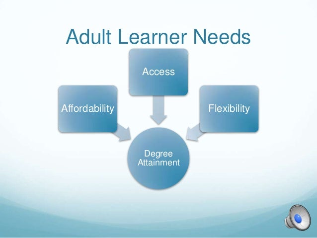 online learning and the adult learner Our experiences in school often dictate how we feel about learning as adult  learners in later life if we had negative experiences as children,.