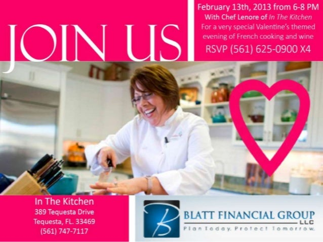 valentine's day cooking class, Ideas