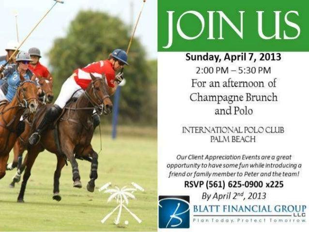 April Client Appreciation Event: Brunch and Polo