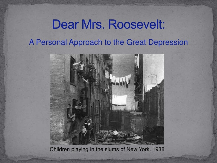 Great Depression PowerPoint for WebQuest