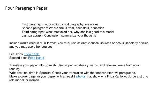 Frida Kahlo Research Paper