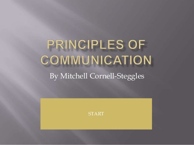 By Mitchell Cornell-Steggles           START