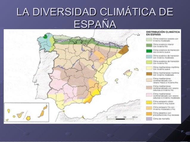 LA DIVERSIDAD CLIMÁTICA DE ESPAÑA