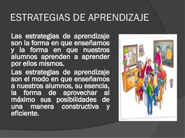 Estrategias del aprendizaje for Que son tecnicas de oficina