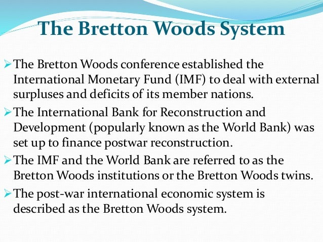 bretton woods conference summary