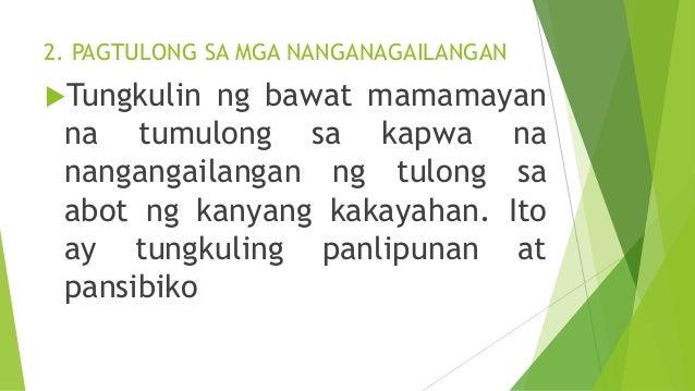 ARALIN 24- MGA TUNGKULIN O PANANAGUTAN NG MAMAMAYANG PILIPINO