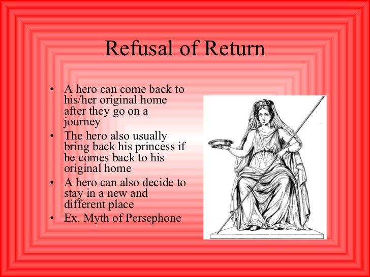 Refusal of Return <ul><li>A hero can come back to his/her original home after they go on a journey </li></ul><ul><li>The h...