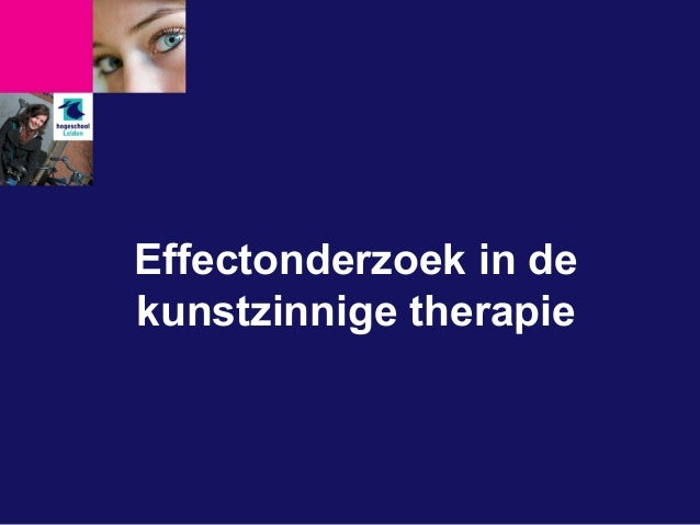 Effectonderzoek in de kunstzinnige therapie