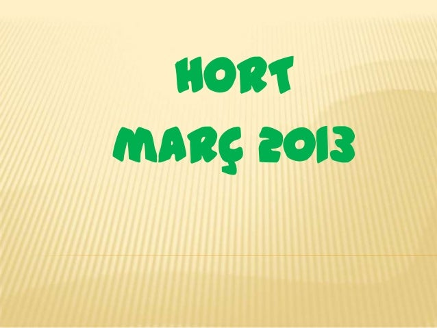 HORTmarç 2013