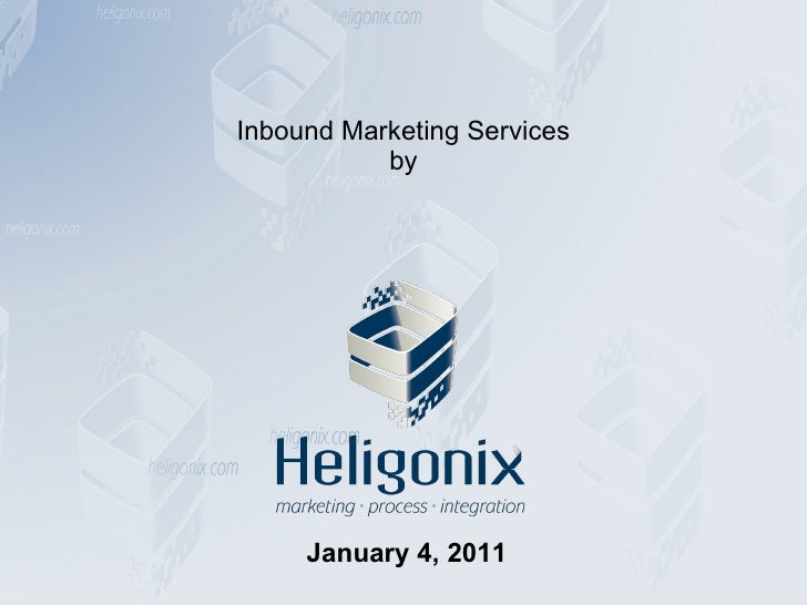 Inbound Marketing Services by January 4, 2011