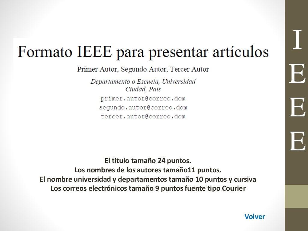 FORMATO NORMAS IEEE