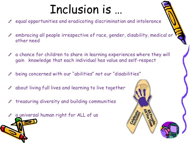 inclusive school and inclusive teacher Inclusion in middle school 1 characteristics of effective inclusion classrooms in a middle school setting by jill a williams submitted in partial fulfillment of the requirements for.