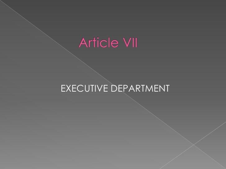 article 7 executive department pdf free