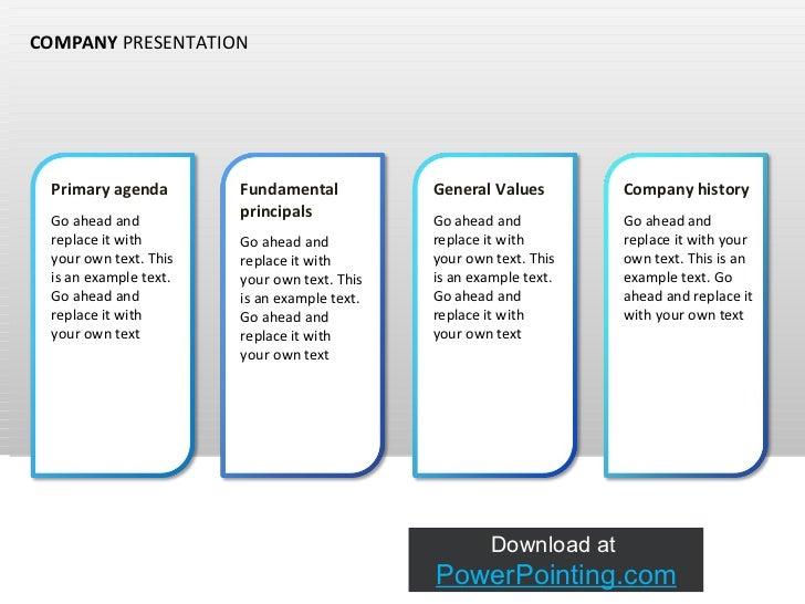 how to make a company presentation