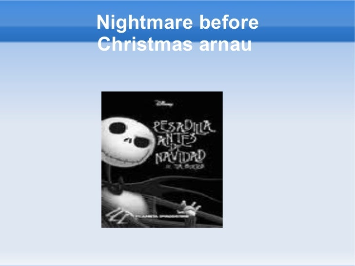 Nightmare before Christmas arnau