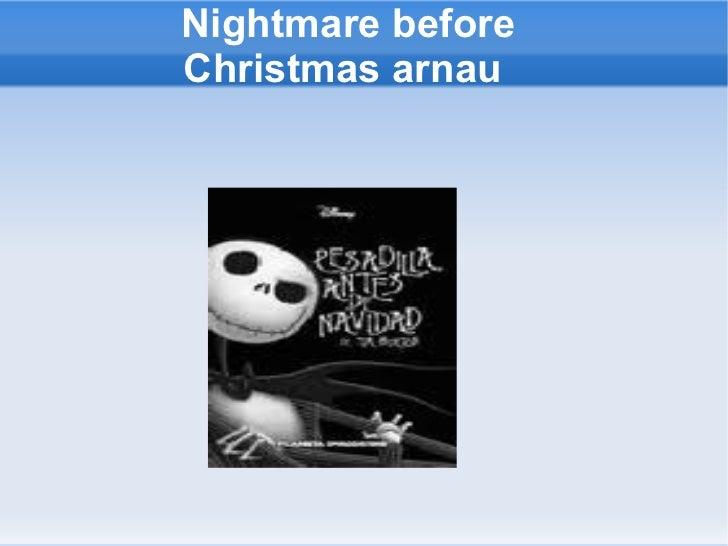 Nightmare before Christmas arnau