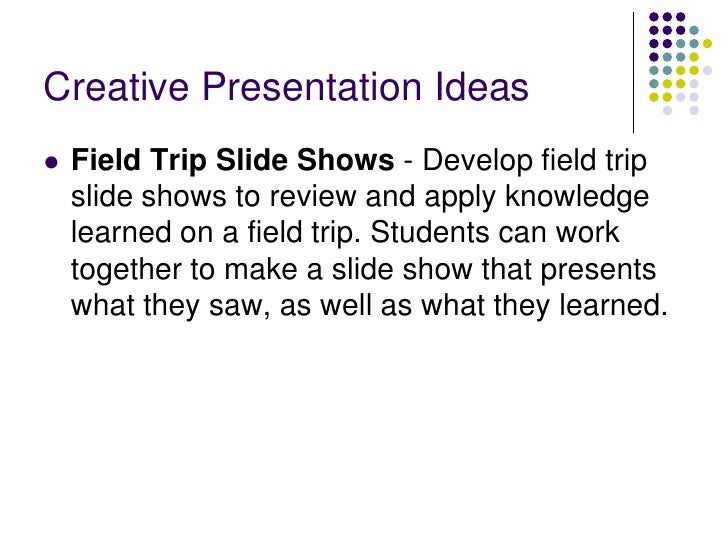 creative classroom presentation ideas