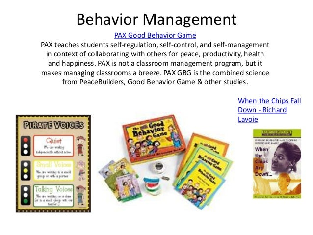 good behaviour game The good behavior game harnesses classroom management strategies we've known all along, but it's working better than anything we've seen.