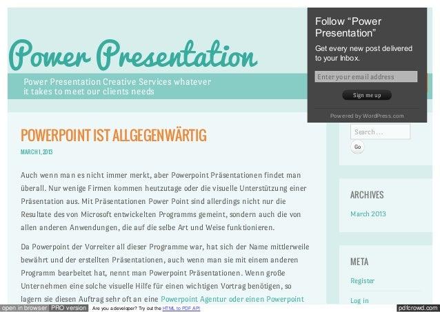 "Follow ""Power                                                                                            Presentation"" Pow..."