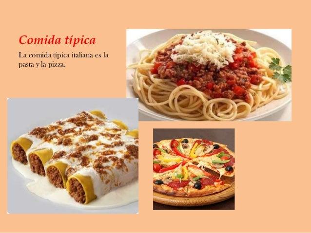 Power point lorena valero for Pasta tipica italiana