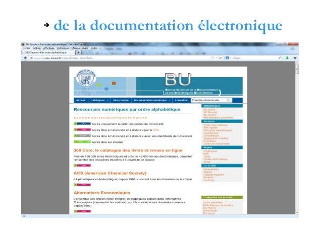 ➔  de la documentation électronique