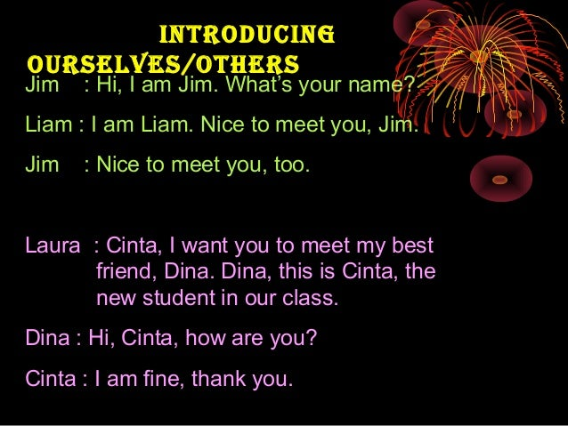 Greetings How To Introduce Oneself And Other People