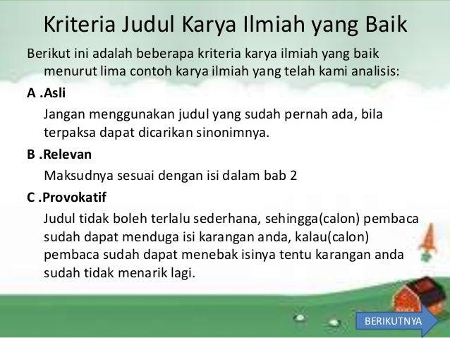 Karya Tulis Ilmiah Sma 2 Semarang