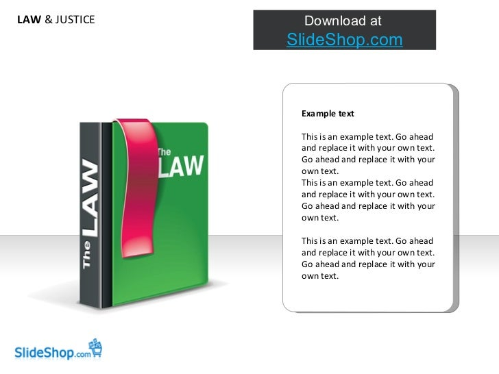LAW  & JUSTICE Example text This is an example text. Go ahead and replace it with your own text. Go ahead and replace it w...