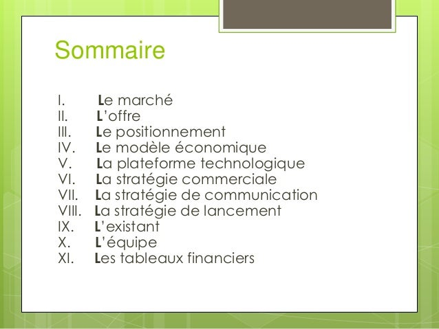 exemple de business plan dun restaurant supply