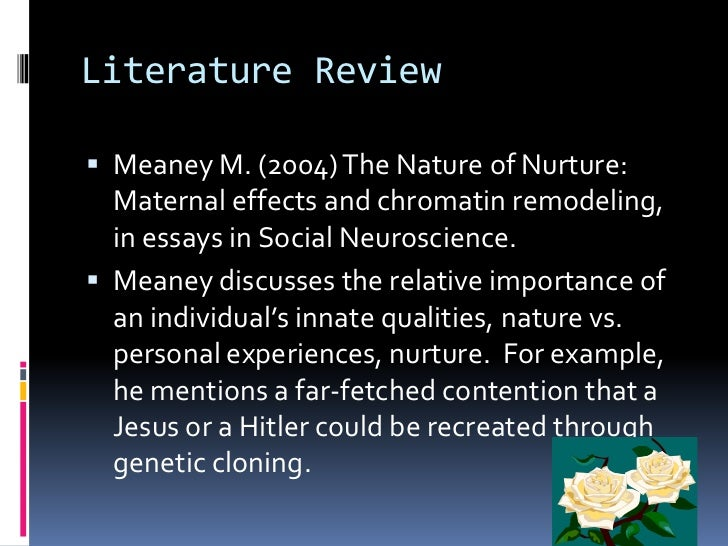 Nurture versus nature article summary
