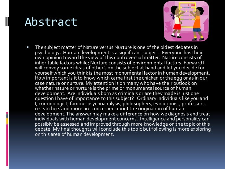 power point literature review nature vs nurture  2 abstract<br >the subject matter of nature versus nurture