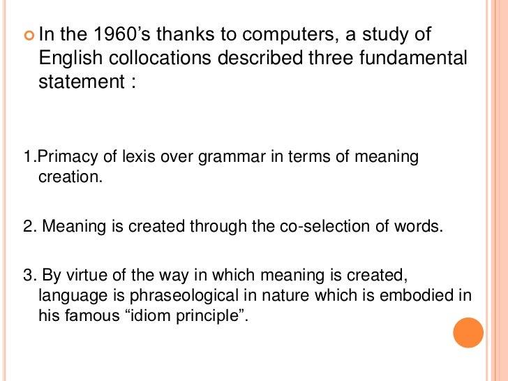Corpus linguistics and multi-word units Slide 3