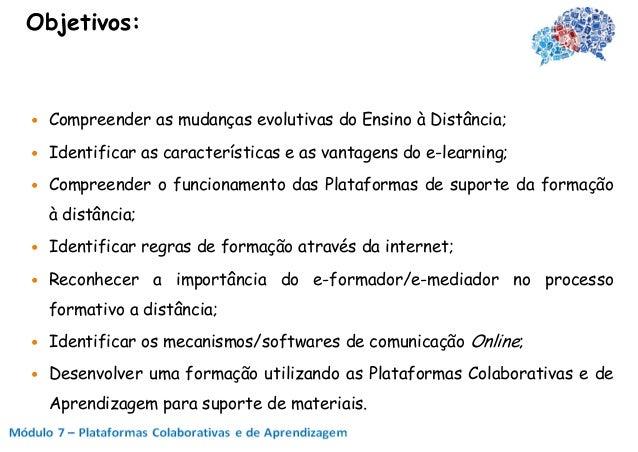 Plataformas Colaborativas e de Aprendizagem Slide 2