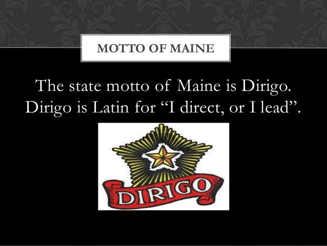 Image result for maine's motto