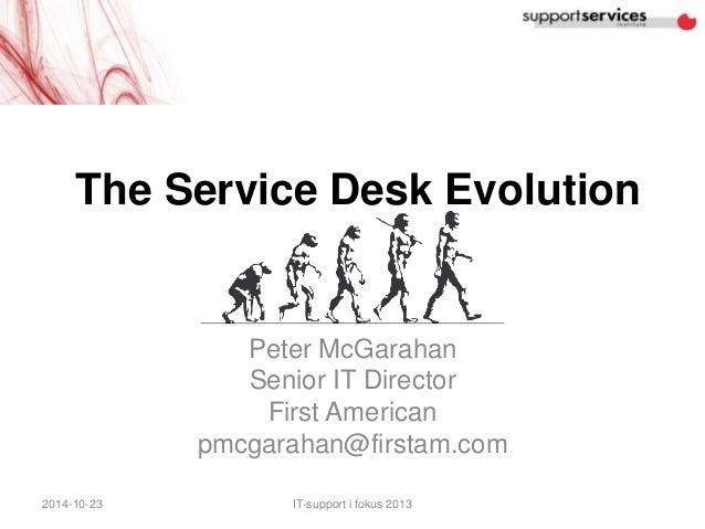 The Service Desk Evolution