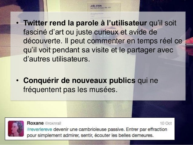 Tweet de Noémie Roussel sur sa visite de l'exposition Depardon.