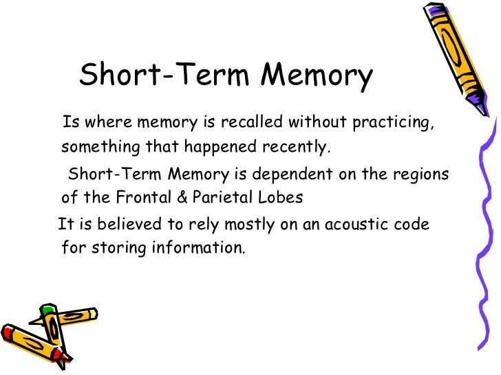 short term and long term memory essay Some people easily remember the name of their first grade teacher from 50 years ago - then they walk into a room and forget why they're therethis helps illustrate.