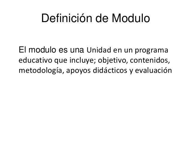 Power Point Modulos De Aprendizaje