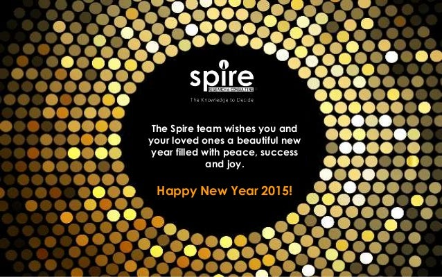 the spire team wishes you and your loved ones a beautiful new year filled with peace