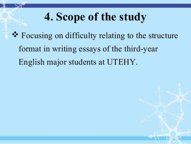 Thesis for dummies english major