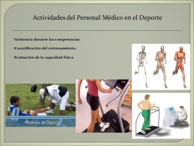 Power point objetivo de la medicina deportiva