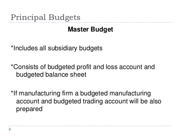 powerpoint on budgets