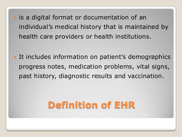 powerpoint on electronic health record lab 1