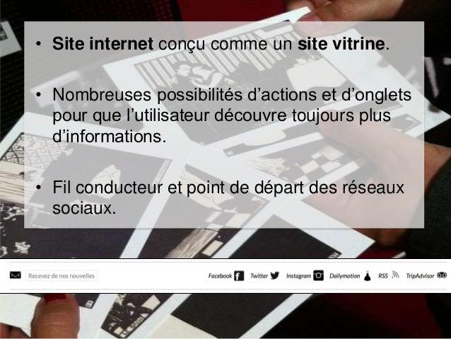 • Site internet conçu comme un site vitrine.  • Nombreuses possibilités d'actions et d'onglets pour que l'utilisateur déco...