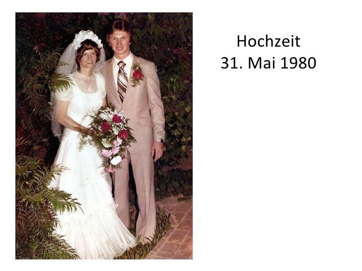 Hochzeit 31. Mai 1980